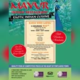 Mayur Indian Restaurant Portlaoise (057) 866 6000