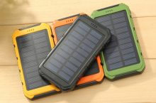 One or Two 10000mAh Solar Chargeable Powerbanks