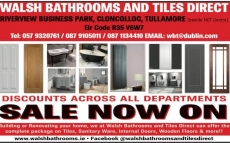 Walsh Bathrooms and Tiles Direct, Tullamore.